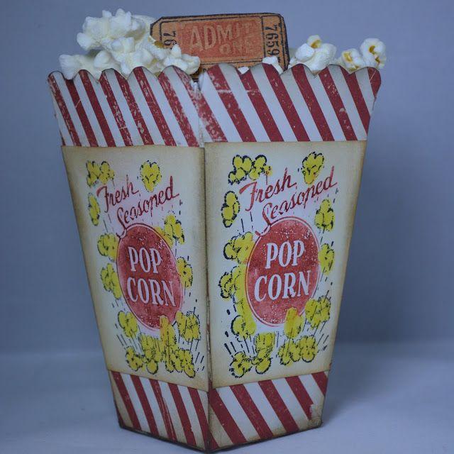 Movie Night? Xyron/DCWV Popcorn Box Tutorial