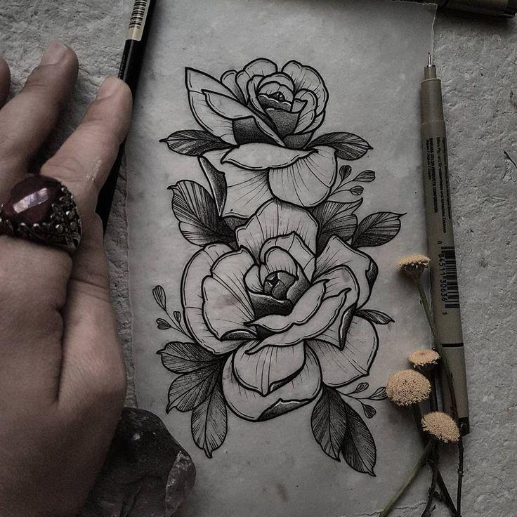 die besten 25 rosen tattoo ideen auf pinterest rosa. Black Bedroom Furniture Sets. Home Design Ideas
