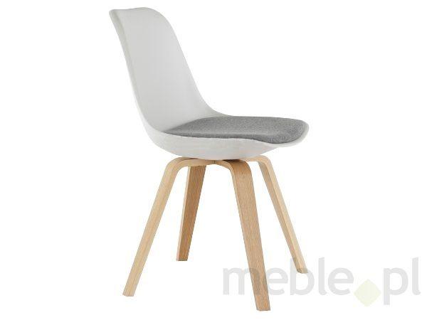 Krzesło Grace Ella biało-szare nogi drewniane Tenzo GraceElla-BSZ-D, Tenzo - Meble