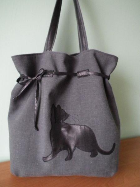 Torba -worek z kotem w MalaMi na DaWanda.com