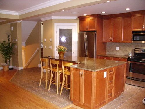 Add Your Kitchen With Kitchen Island With Stools: A Lovely Kitchen Island: L