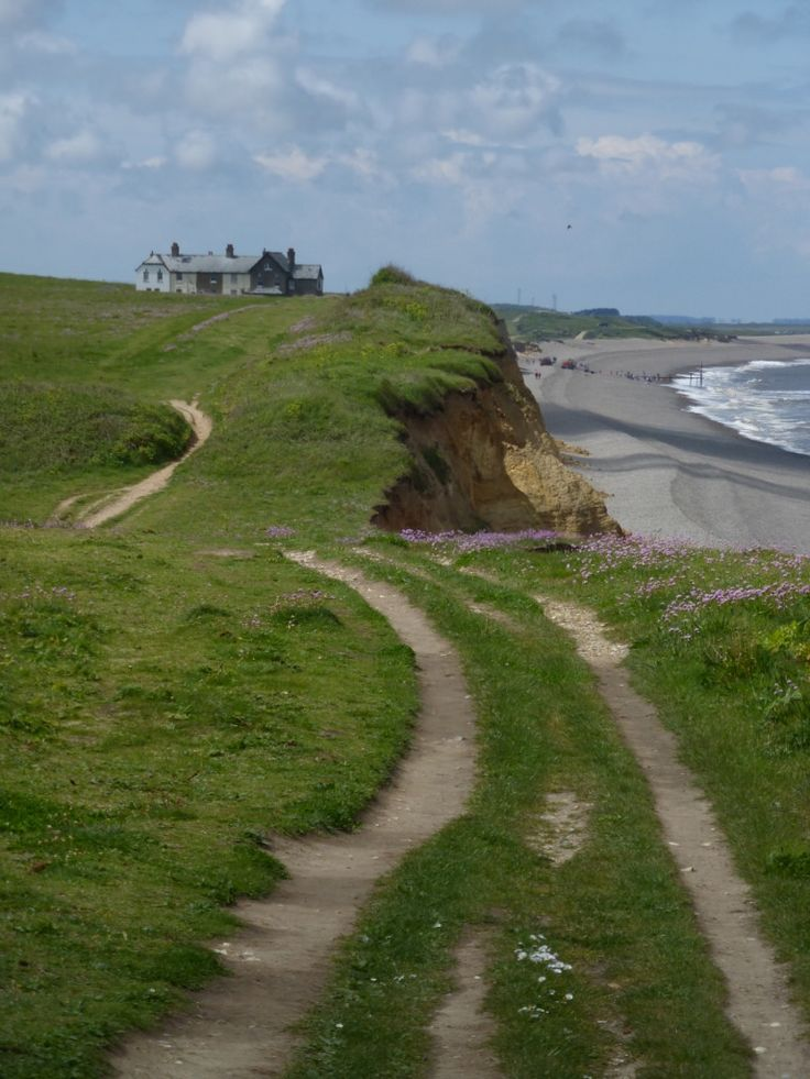 Cliff path near Weybourne, Norfolk, England on Norfolk Coast Path