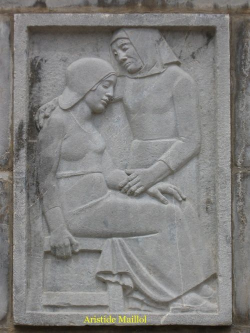 Monument aux morts (14-18) par Aristide Maillol.Banyuls-sur-Mer [Pyrénées-Orientales]