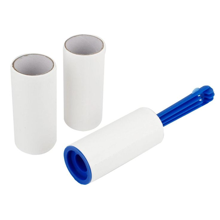 Unique Bargains 3 Pieces Blue Handle Pet Hair Dust Removal Self Adhesive Sticky Lint Roller