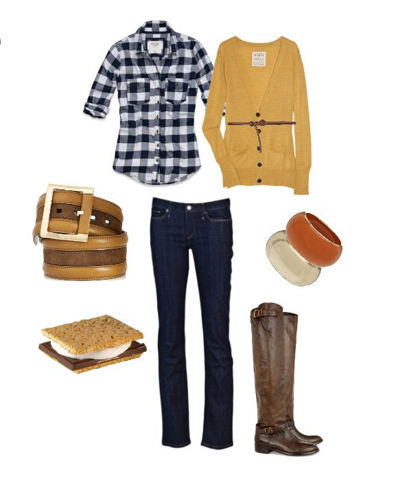 layer. country. cute: Style, Tall Boots, Yellow Cardigan, Sweet Treats, Fall Outfits, Mustard Cardigan, Fall Fashion, Plaid Shirts, Work Outfits