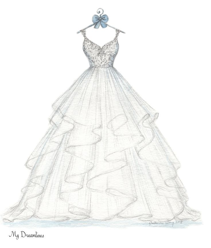 What is the best gift for you? Your wedding dress outlined and your suit. Perfect…