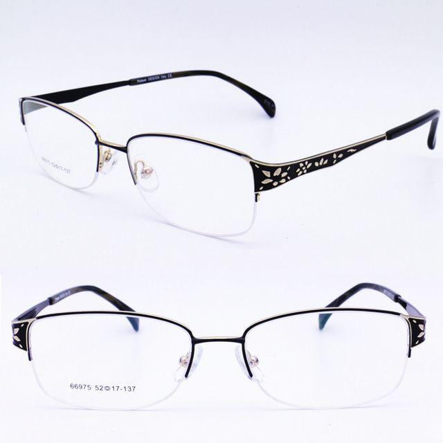 914ebf0442 square shape halfrim metal with luxury carving flower pattern trendy  prescription progressive reading glasses for women
