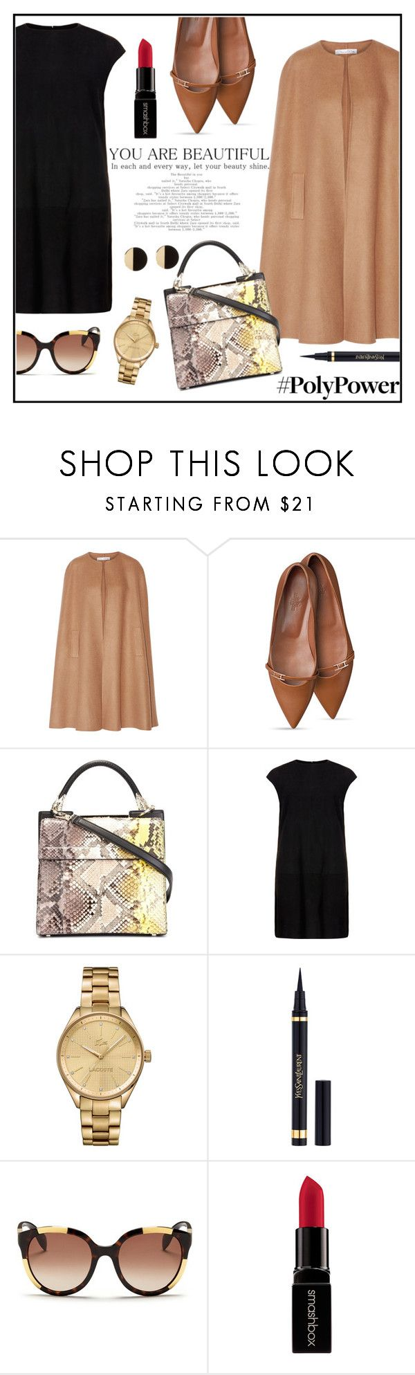 """""""My Power Outfit"""" by anchilly23 ❤ liked on Polyvore featuring Oscar de la Renta, Roberto Cavalli, MuuBaa, Lacoste, Alexander McQueen and Smashbox"""
