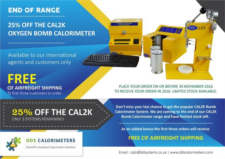 CAL2K Calorimeter - End of range 25% SALE - DDS CALORIMETERS