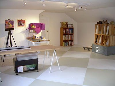 painted plywood floors