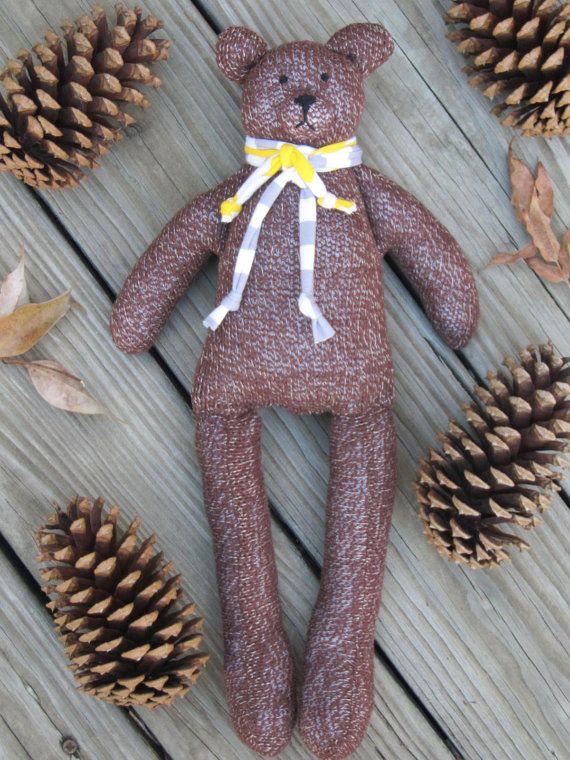 Teddy Bear stuffed bear toy soft and cuddly by HappyDollsByLesya
