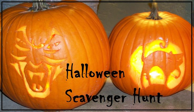Printable Halloween Scavenger Hunt - great for family activity or classroom party idea!