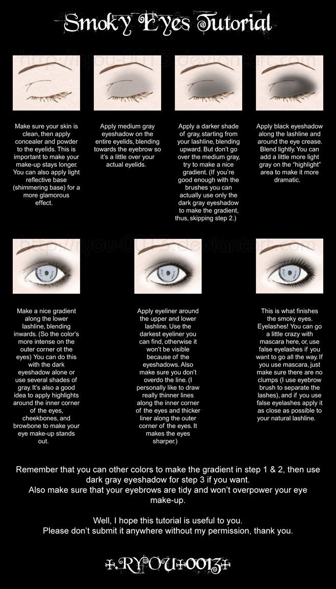 Smokey eye tutorial. Could totally do this with any color scheme.