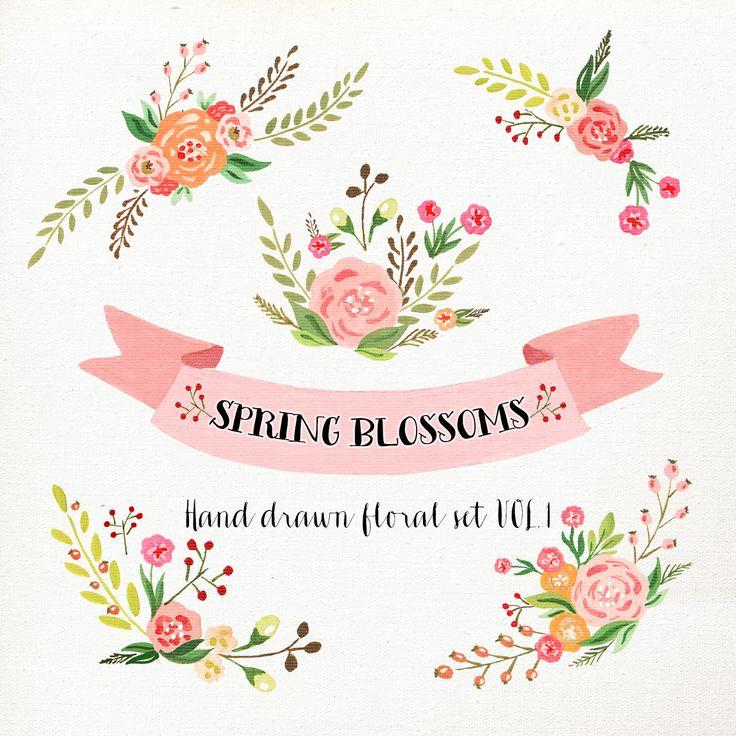 Vintage floral clipart free - ClipartFest