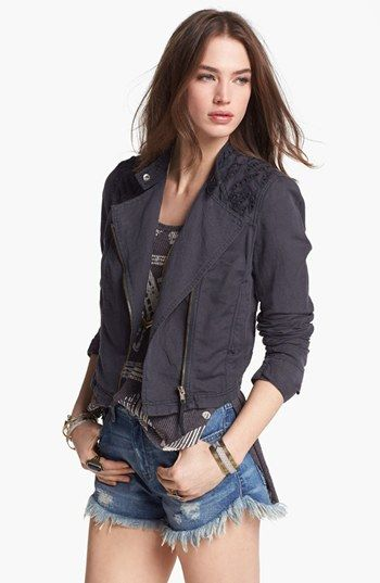 Free People Cutwork Linen Blend Jacket available at #Nordstrom (size 6)