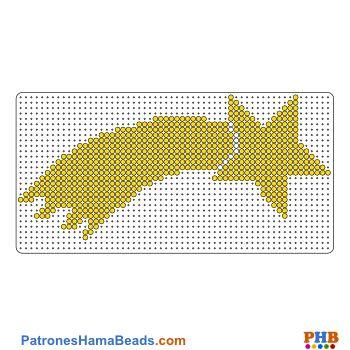 Estrella fugaz plantilla hama bead. Descarga una amplia gama de patrones en formato PDF en www.patroneshamabeads.com