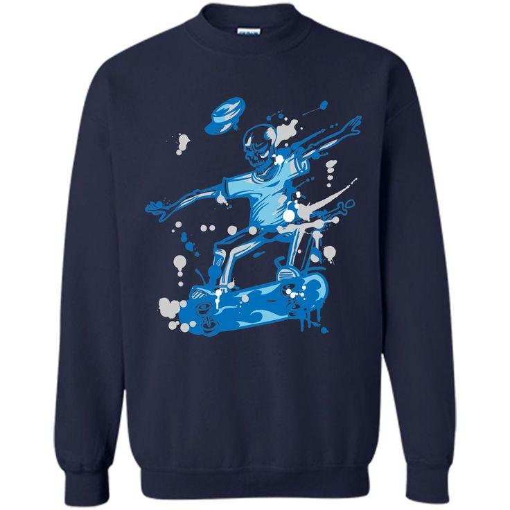 Skeleton Ride A Skateboard T Shirt, Skate Shirts Unisex