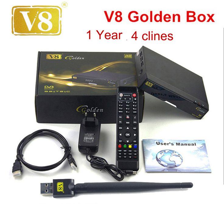 Get Openbox V8 Golden DVB-S2/ DVB-T2 DVB-C Receptor satellite Decoder with 1 year Europe cline Cline 1 USB WIFI set top box PK V7 HD #Openbox #Golden #DVB-S2/ #DVB-T2 #DVB-C #Receptor #satellite #Decoder #with #year #Europe #cline #Cline #WIFI