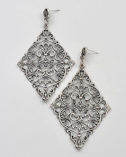 earrings filigree images ear on ideas jewelry design piercing pinterest big dangles best