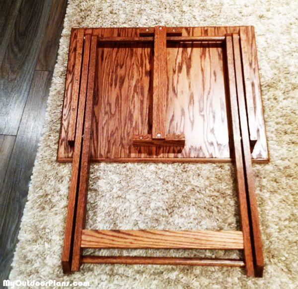 Diy Folding Tv Tray Myoutdoorplans Free Woodworking