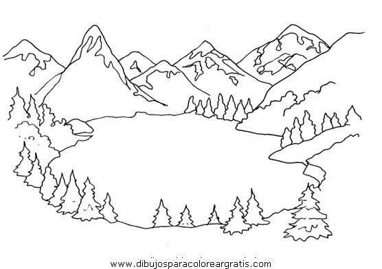 Resultado De Imagen Para Dibujos Para Colorear Paisajes De Invierno