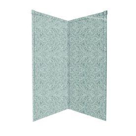 Transolid 36-in W x 72-in L x 36-in H Decor Matrix Stone Shower Wall Surround Corner Wall Panels