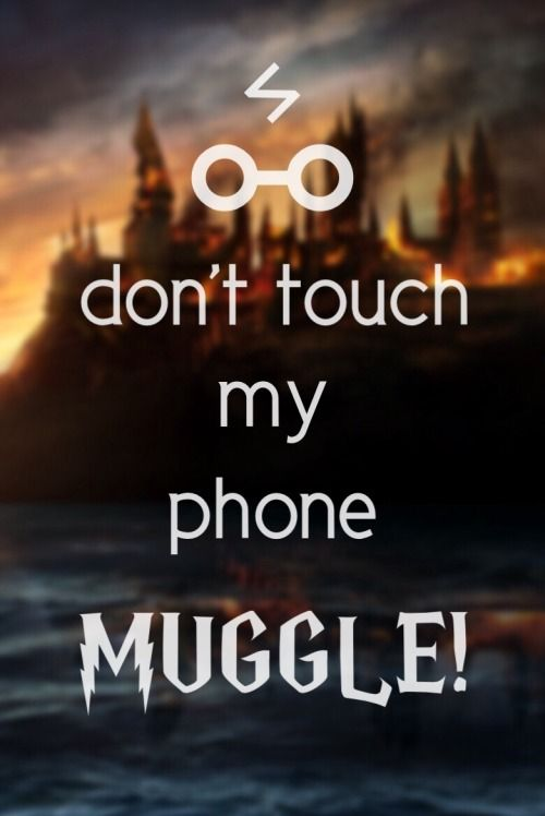 Don't touch my phone muggle!