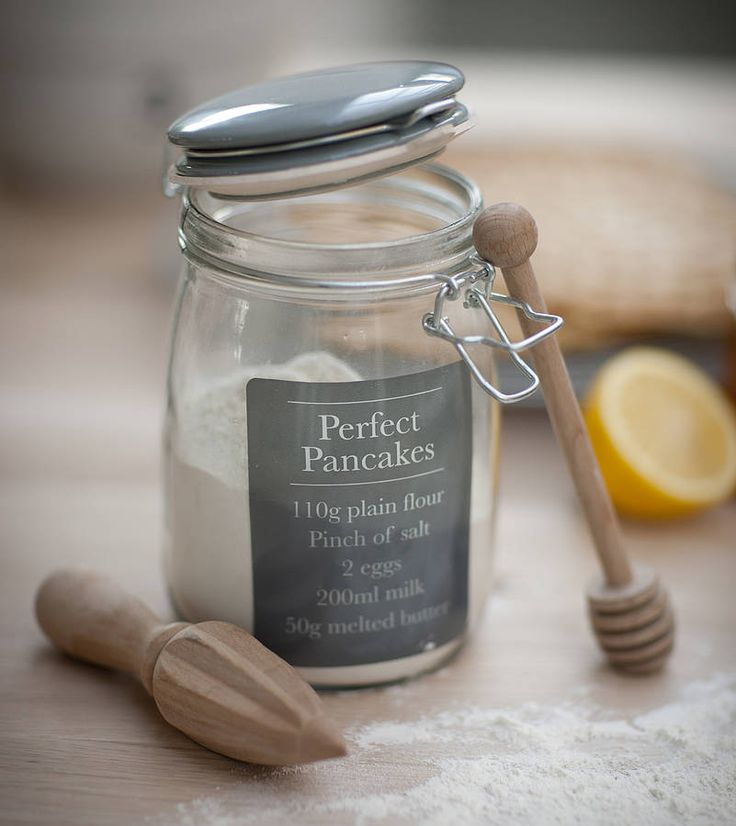 Pancake Mix Storage Jar from notonthehighstreet.com. Raises £0.08 for your charity when you shop online with #Give as you Live
