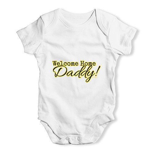 Welcome Home Dadd...  http://twistedenvy.com/products/welcome-home-daddy-baby-unisex-babygrow-bodysuit-onesies?utm_campaign=social_autopilot&utm_source=pin&utm_medium=pin   All artwork on Twisted Envy is created by artists from around the world.     #Twistedenvy