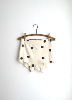 : Polka Dots, Fashion, Lingerie, Style, Polka Dot Shorts, White, Polkadots, Black