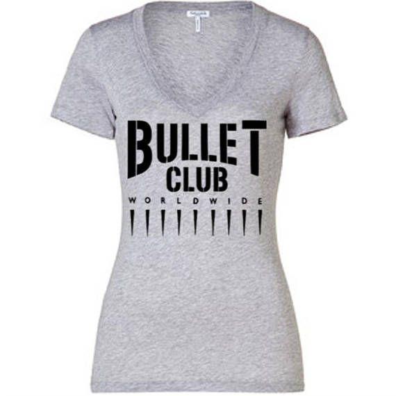 Bullet Club WWE Wrestling Wrestler Ladies V Neck T Shirt