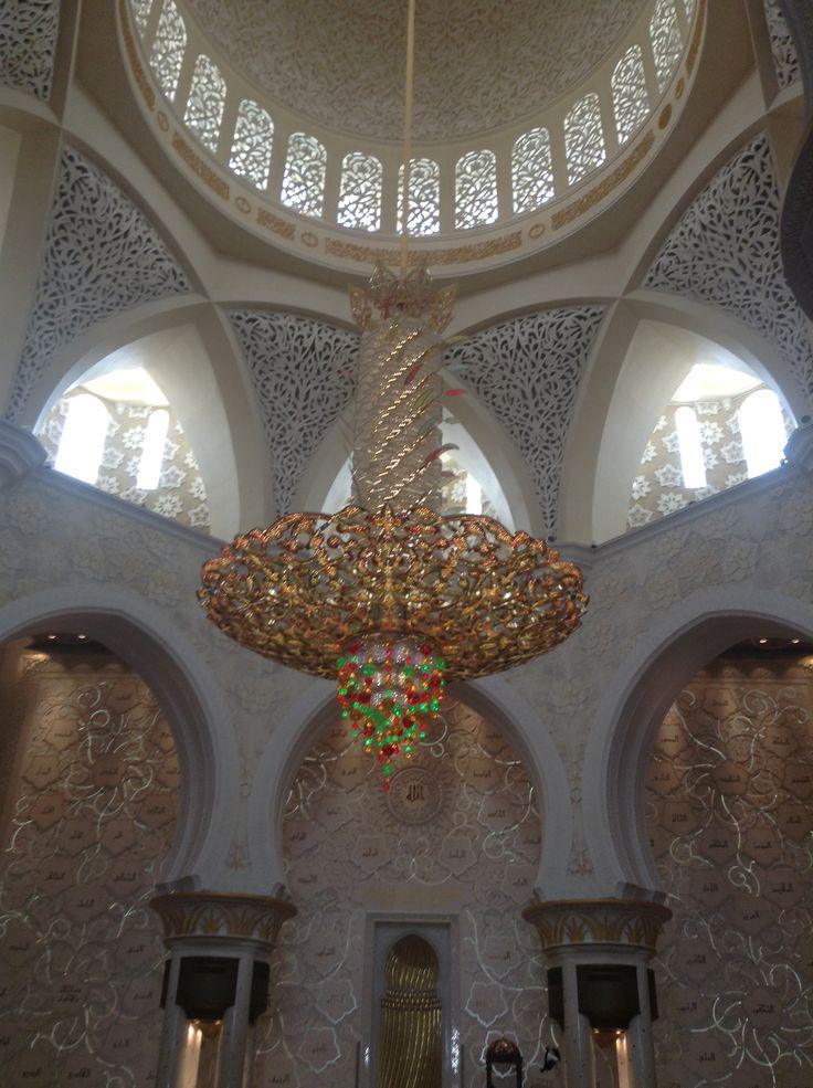 Chandelier in Sheikh Zayed Grand Mosque in Abu Dhabi, UAE