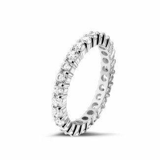 Witgouden Diamanten Ringen - 1.56 caraat diamanten alliance in wit goud