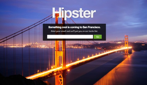 Hipster landing page