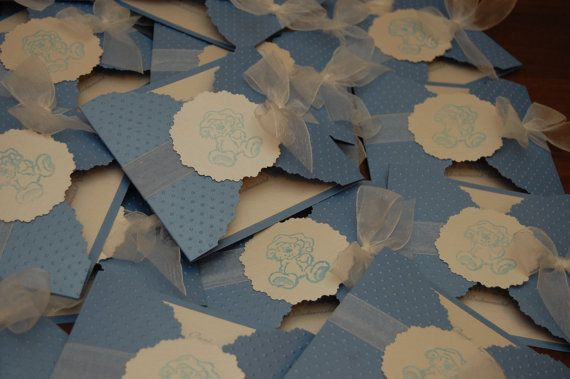 Boy and Girl Christening Invitations by handmadebymaddy on Etsy