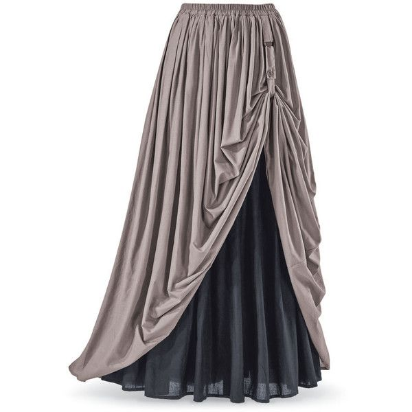 Reversible Renaissance Skirt ($100) ❤ liked on Polyvore featuring skirts, steampunk skirt, renaissance skirt, bohemian style skirts, gothic lolita skirt and gothic skirts