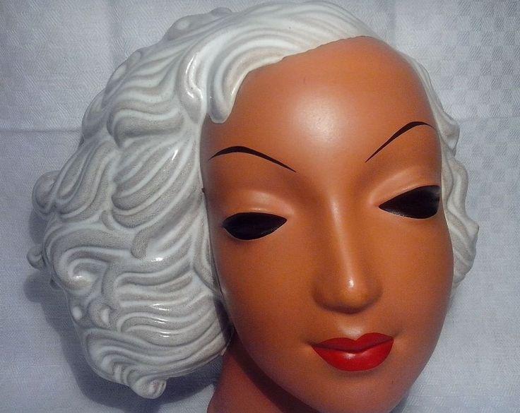 Mid Century, Goldscheider, Wandmaske Frau 1954, selten in Antiquitäten & Kunst, Porzellan & Keramik, Keramik | eBay