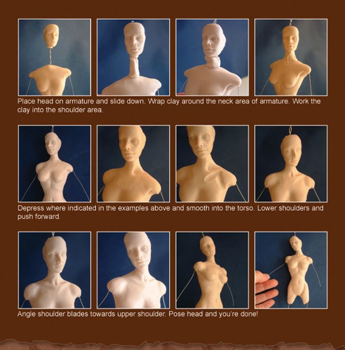 Doll Making ~ Sculpey Tutorial ~ 3