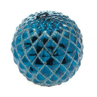 Christmas decoration candle sphere diamonds turquoise | online sales on…