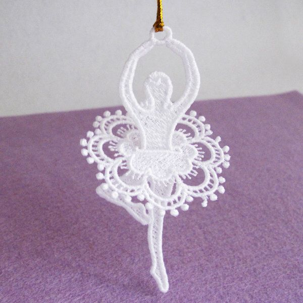 Fsl ballerina free standing lace machine embroidery