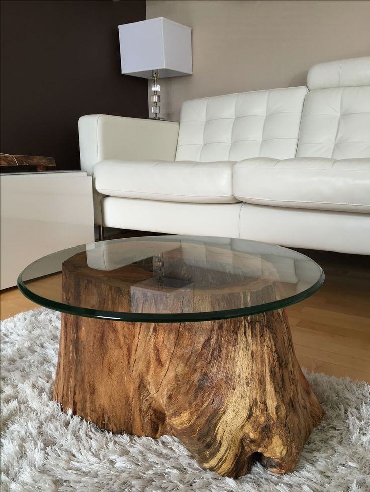 simple diy furniture projects to try for your home tree trunk coffee rh pinterest com