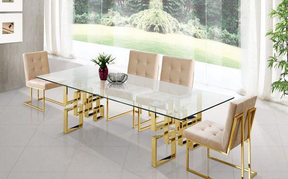 Pierre Beige Table 714 Meridian Furniture Dining Room Sets