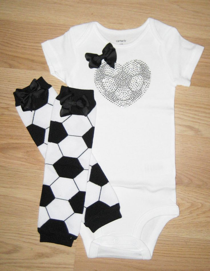 READY TO SHIP - Size 12M bodysuit and leg warmers - Soccer fan outfit - Soccer baby girl - Soccer heart bodysuit - Baby girl outfit - Soccer by PinkFlowersBoutique on Etsy https://www.etsy.com/listing/226765879/ready-to-ship-size-12m-bodysuit-and-leg
