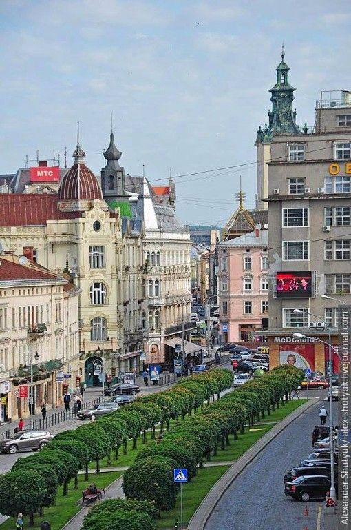 Shevchenka Avenue, Lviv, Ukraine...   www.aquamiracles.com