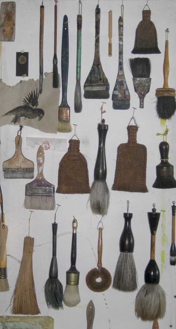 catherine white collection of brushes
