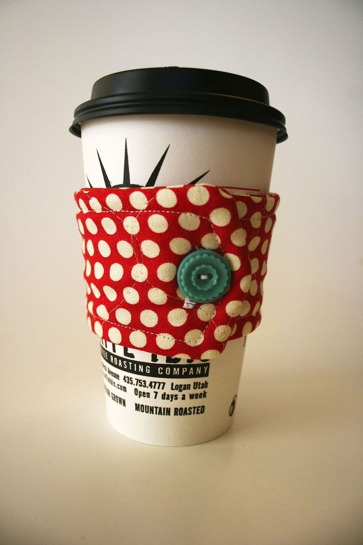 Coffee Cup Cozies: Free Pattern - Cosmo Cricket