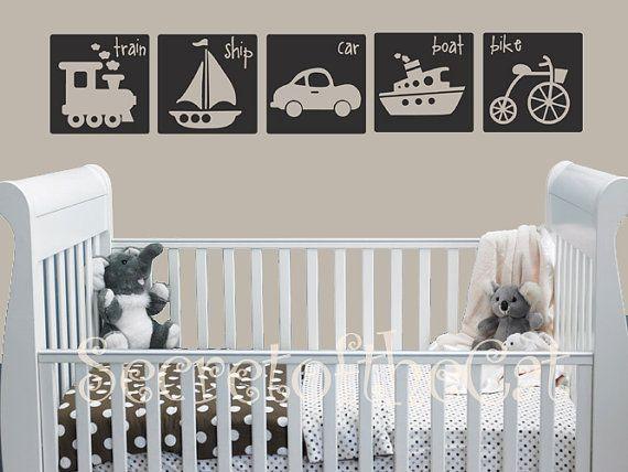 Nursery Decal - Alphabet Vinyl Decal - Vinyl Wall Art - Traffic Kids Blocks - Children on Etsy, $45.00