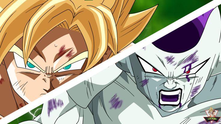 Goku vs Freezer by lucario-strike