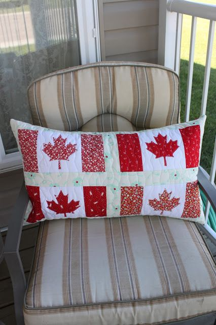 Daydreams of Quilts: Canadian Flag Pillow or Table Runner Tutorial