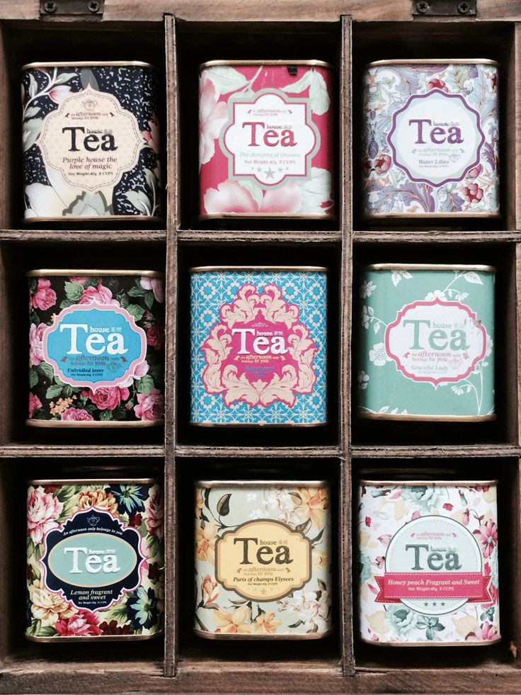 Pretty tea tins